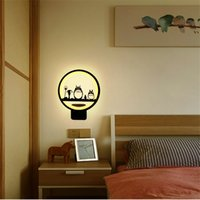 Wholesale Led Horse Night Light - sconces bedside wall lamp bedroom art livingroom cute lights simple modern creative totoro deer horse LED night light children round ring