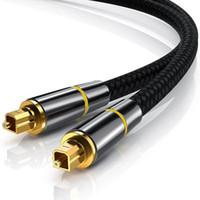 audio de théâtre achat en gros de-Connexion du port audio numérique Toslink à n'importe quel système stéréo ou cinéma maison Câble audio à fibre optique avec gaine tressée