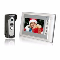video portero telefónico al aire libre al por mayor-Seguridad para el hogar 7 pulgadas TFT LCD Monitor color Video Door Door Intercom System IR Cámara exterior Doorphone