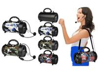 mini bluetooth lautsprecher für apfel großhandel-Mini tragbarer Lautsprecher Digital drahtloser bluetooth camo mit Lautsprecher-Subwoofer der Stereomusik im Freien für Tablette iphone xr note9