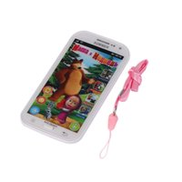 Wholesale toy touch screen phones - Multifunction Baby Mobile Phone Simulator Music Phone Touch Screen Children Toy Learning & Education Model Russian Language