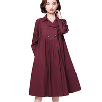 Wholesale office clothing for xl size for sale - Women Spring Autumn Overcoats Trench Coat Long Over Plus Size Loose Overwear Windproof Clothing For Office Lady Work New Arrival
