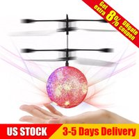 Wholesale mini helicopter batteries - Flying Ball Children Flying Toys Mini RC infrared Helicopter Ball Built-in Shinning LED Lighting for Kids Teenagers Colorful Flyings