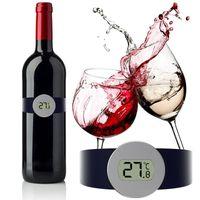 champanhe c venda por atacado-Medidor de Temperatura Termômetro Digital de Vinho Tinto Vinho Assista-9 ° C ~ 65 ° C digital Garrafa De Champanhe de Vinho Termômetro Ferramentas