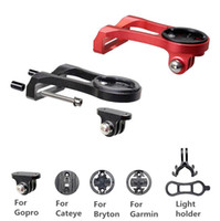 Wholesale Headlight Brackets - Bicycle Stem Computer Mount Holder Headlight Clamp Bike Handlebar Extension Bracket Adapter for GARMIN Edge GPS for Sport camera