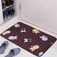Lovely Cat Printed Bathroom Carpet Bath Mat 1PCS Toilet Rugs Floor Mat Cartoon Design Bath Rugs Anti-Slip WC Mat tapete banheiro Kitchen Rug