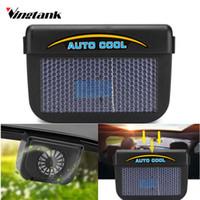 Wholesale fan energy saving - Vingtank Solar Car Window Cooler Auto Air Vent Cool Fan Energy Saving Ventilation System Universal Auto Radiator