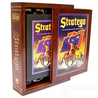 Wholesale wooden military toys - Stratego Game Wooden Box Vintage Game Collection Classic Game of Battlefield Strategy Western Military Backgammon Chess c191