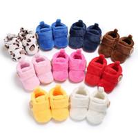 bebek botları toptan satış-10 Renkler Kış çocuklar ayakkabı Bebek Kürk Kar Botları Bebek Yürüyor kızlar Ayakkabı inek desen Isıtıcı sneakers Ayakkabı Prewalker