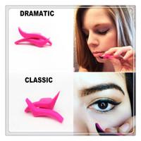 Wholesale eyeliner template makeup tools online - Cat Winged Eyeliner Stamp Eye Tool Stamps Eye Makeup Template Liquid Eyeliner Mould Makeup Cosmetics Tools