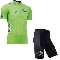 комплекты трикотажные изделия оптовых-TOUR DE FRANCE команда Велоспорт с короткими рукавами трикотажные шорты комплекты Дышащий Велоспорт Одежда Summer MTB Одежда для велосипедов мужская Y61337