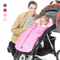 Wholesale stroller winter sack - Wholesale- Winter baby sleeping bag Blanket Envelope for Newborn Infant Girl Boys Cotton Sleeping Bag Sleep Sack Stroller Wrap Swaddling R4