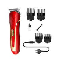 kesme sakal elektrikli düzeltici toptan satış-KEMEI KM-1409 Saç Kesme Elektrikli Tıraş Erkekler Karbon Çelik Kafa Tıraş Saç Giyotin Şarj Edilebilir Trimer Elektrikli Sakal