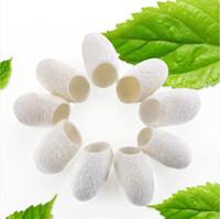 frisch organisch großhandel-Frische organische natürliche silk kokon Ball Gesichtsreiniger Anti Aging Bleaching mitesser Entferner Hautpflege Seidenraupe
