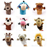Wholesale hand plush baby toys resale online - Parent child interaction Christmas Hand Puppet Toys CM animal Stuffed Finger Puppet For Baby Xmas Gifts C3138