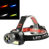 Wholesale cycling bike headlamp resale online - Camping colorful COB rechargeable LED headlamp LM Q3 COB Modes Rechargeable Battery Cycling Bike Bicycle Headlamp