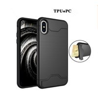 Wholesale iphone plastic plugs online – Plug in mobile phone shell Case For Apple iphone plus Card storage function hard Cover Phone case for iphone plus