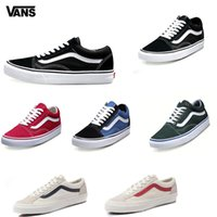 Wholesale Free Toe - Original Vans Old Skool Casual Shoes low-top CLASSICS Unisex MEN'S & WOMEN'S Skateboarding Shoes Sports canvas Shoes Sneakers free shipping