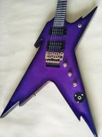 guitarra jumbo oco venda por atacado-Guitarra Elétrica em Forma de Roxo Made in China Fábrica Personalizado Frete Grátis
