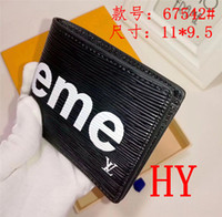 Wholesale red box clutch - 2018 AAA MEW high quality Mens Brand Wallet free shipping Men's Leather With Wallets For Men Purse Wallet Men Wallet without box red