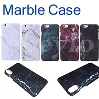 peles do iphone 6s venda por atacado-Alta qualidade rígido pc mármore pele tampa traseira caso protetor de plástico casos de telefone para iphone 6 6 s 7 8 x plus frete grátis