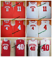 Wholesale Indiana Jersey - Throwback Indiana Hoosiers College Basketball Jersey University 4 Isiah Thomas 11 Victor Oladipo 40 Cody Zeller Shirts Retro Stitched Jersey