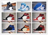 Wholesale hi low tops - 2018 Hot Sale 1s 1 All Star Basketball Shoes Hi AS OG Men High Top sport shoes Chameleon Fashion Black sneakers