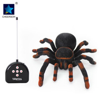 Wholesale Realistic Dog Toy - Electronic Pets High Quality New design Remote Control 11'' 4CH Realistic RC Spider Scary Toy Prank Christmas Gift Model toys