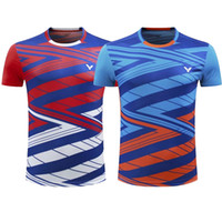 Wholesale competition sports - VICTOR Badminton Jersey ,Tennis Shirts Clothes,Badminton Tennis competition attire,Breathable Sport sportswear Tennis tracksuit Quick-dryi