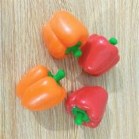 Wholesale wooden vegetables toys online - Toy Venting Balls Squeeze Simulation Of Vegetable Pepper Squishies Adult Chidren Decompression Toy Originality Relief Stress Game ck W