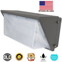 Wholesale Led Wells - Best UL DLC Approve Outdoor LED Wall Pack Light 100W 120W Industrial Wall Mount LED Lighting Daylights 5000K AC90-277V With Mean Well Driver