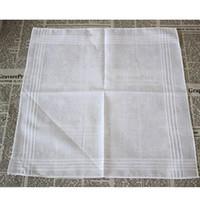 taschentücher großhandel-100% baumwolle weiß taschentuch männlichen tisch satin taschentuch handtuch platz stricken schweißabsorbierende waschhandtuch für baby erwachsene hh7-916