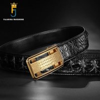 Men's Belts Mcparko Genuine Leather Crocodile Belt Men Luxury Brand M Buckle Alligator Belt Brown Business Man Belts Birthday Gift For Male