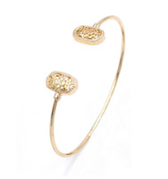 Wholesale Filigree Gold Jewelry - Hot Fashion Kendra New Small Oval Filigree Cuff Bangles Jewelry for Women Gift for Beauty Lady