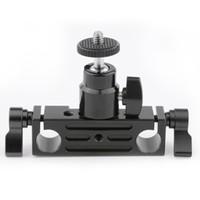 Wholesale Mini Ball Head For Dslr - CAMVATE Rod Clamp 15mm Railblock+ 1 4 Hot Shoe Mount Mini Ball Head Flash Bracket Holder