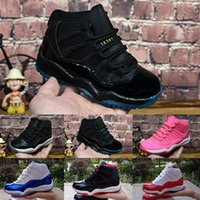 ingrosso scarpe da neonato nato-Nike Air Jordan 11 Jointly Signed High OG 1s Scarpe da basket per bambini Chicago 1 Infant Boy Girl Sneaker per bambini New Born Baby Scarpe da ginnastica per bambini