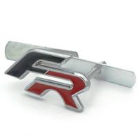 audi çıkartmaları toptan satış-Metal FR Araba Yarışı Ön Kaput Izgarası Rozet arka Amblem araba kuyruk sticker Audi BMW KOLTUK Ibiza Leon Altea Araba Styling için