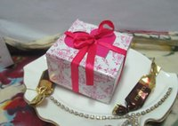 Wholesale wedding top cake resale online - Pieces Top Elegant Wedding gift box of Fuchsia Heart Flap Favor Boxes For Wedding Cake boxes and Party candy box