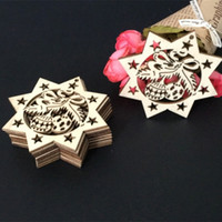 Wholesale silk christmas ornament for sale - Group buy Wooden Five Pointed Star Small Pendant Originality Merry Christmas Tree Hanging Ornament With Hemp Rope Party Decor Accessories zn Ww