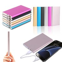Wholesale ultra mobile phones - Portable Ultra thin slim powerbank MAH charger power bank for mobile phone iphone Tablet sell ZA383401
