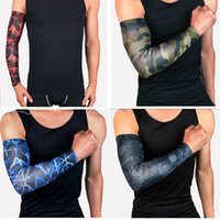 Wholesale Skins Compression Wholesale - Custom Logo Compression Arm Sleeve Camo 3 Size Protection Antibacterial Properties Prevent Muscle Soreness and Protect Skin G442S