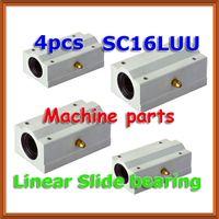 Wholesale x axis linear - 4pcs x SC16LUU SCS16LUU 16mm shaft Linear axis Ball Bearing block, Lengthen Bearing pillow Bolck Linear unit for CNC