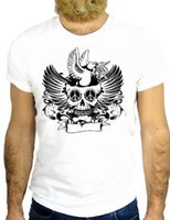 ingrosso crani d'uccello-T SHIRT Z0686 TATTO NICE SKULL BIRD NICE VINAGE JERRY COOL HIPSTER GGG24 100% Cotone Magliette Marca Abbigliamento Top T