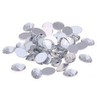Wholesale craft crystal gem stones - Crystal color Craft Art Gems Oval Gems Flatback Earth Facets Acrylic Rhinestone Strass High Shine Nail Art Stones