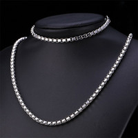 Wholesale Cheap Gold Chains For Men - 18K White Gold Filled Necklaces For Men Women Jewelry Long 2.5MM Cheap Wholesale Hip Hop Rope Cuban Link Chain Hot Sale FreeShipping