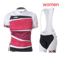 Factory direct sale KTM cycling jersey Women set 2019 pro team short sleeve  ropa ciclismo summer Quick dry mountain bike clothing Y022701 d3ef506c0