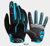 Wholesale women s touch screen gloves resale online - Winter Cycling Gloves Touch Screen Gel Sport Shockproof Road Full Finger Bicycle Glove For Men Woman