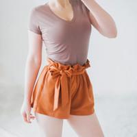 camisas de algodão simples venda por atacado-Regular de Alta Qualidade Com Decote Em V 15 Doce Cor Algodão Básico T-Shirt Das Mulheres Simples Simples T Camisa para As Mulheres de Manga Curta Feminina Tops Feminino