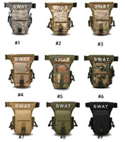 Wholesale waterproof drop leg bag resale online - Camo Tactical leg bag waterproof travel waist bags Men Canvas Drop Leg Bag Waist Fanny Pack Belt Hip Bum Multi function Bags