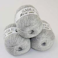 strickgarn kaschmir großhandel-Verkauf 3X50g Super Soft Pure Sable Cashmere Wrap Tücher Handgestrickte Wolle häkeln 243-Garn C
